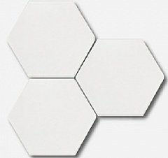 Scale Hexagon White Mat 11.60 10.10