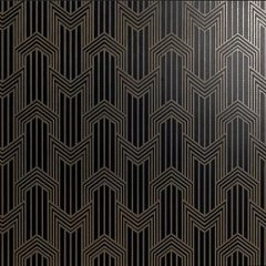"Decoro ""geometria "" in brass on matt black 60.00 60.00"