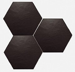 Scale Hexagon Black Mat 11.60 10.10